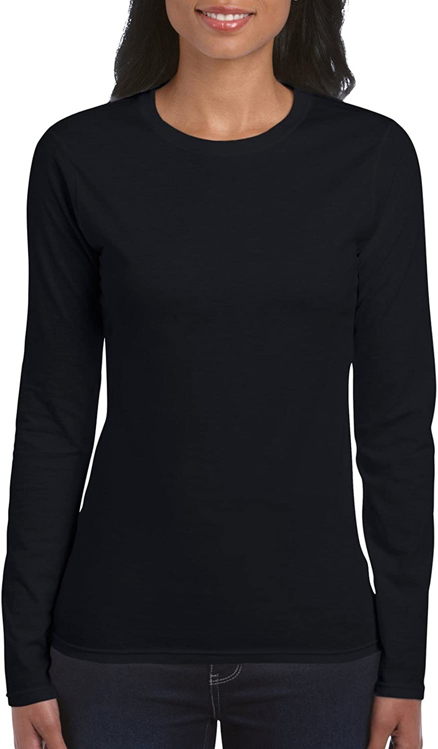Gildan Womens Softstyle Long Sleeve T-Shirt, 2-Pack, Black, 2X-Large: Amazon.es: Ropa y accesorios
