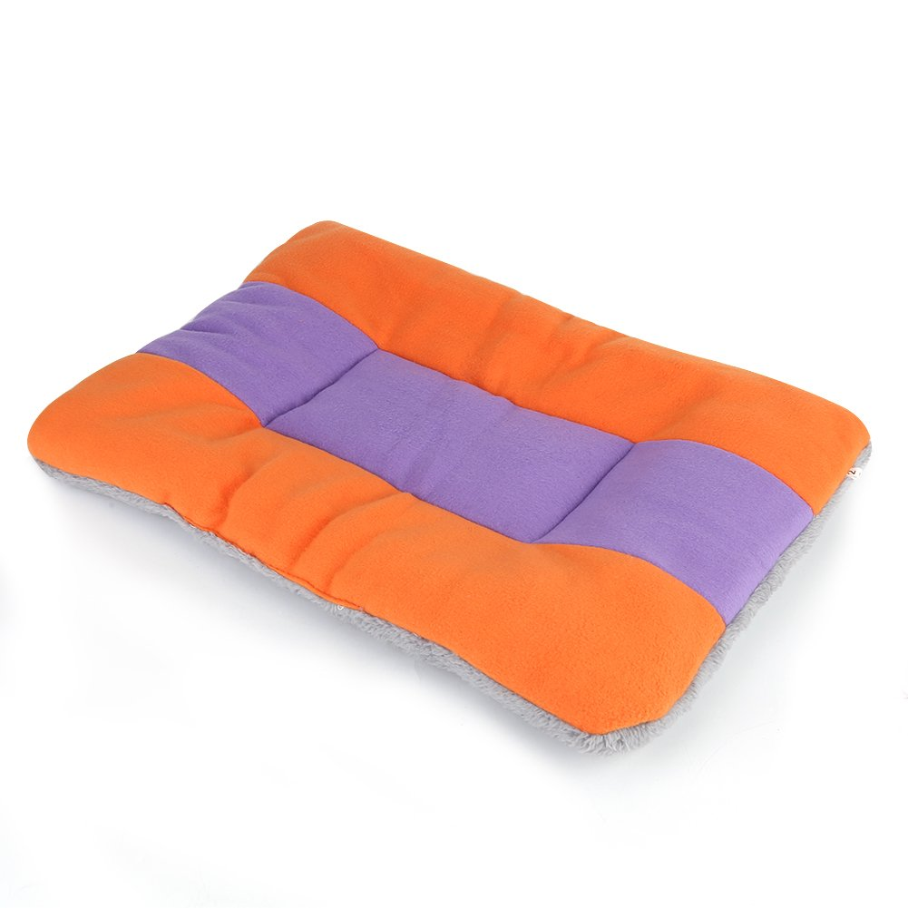 M Pet Bed Dog Mat Kennel Cat House Pad Soft Warm Sleeping Blanket Cushion Fashionable Bed Cozy Nest Tent for Puppy (M)