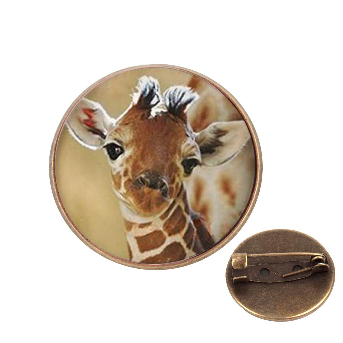 Pinback Buttons Badges Pins Cute Baby Giraffe Lapel Pin Brooch Clip Trendy Accessory Jacket T-Shirt Bag Hat Shoe