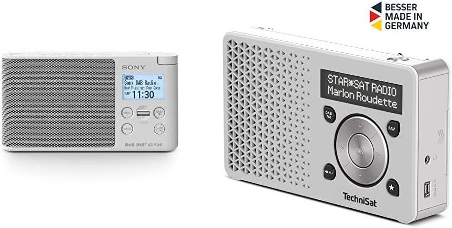 Sony Xdr S41d Digitalradio Dab Fm Rds Wecker Technisat Digitradio 1 Tragbares Dab Radio Mit Akku Weiß Silber Heimkino Tv Video