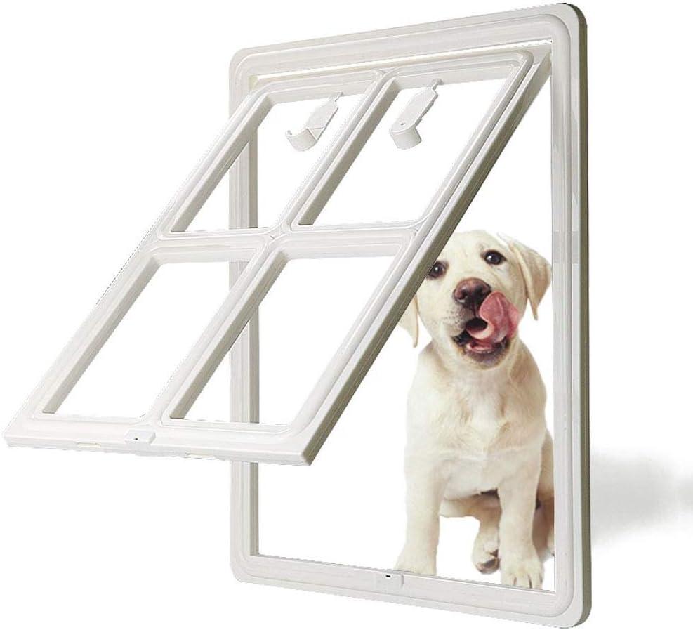 Puerta Gatera Para Mascotas Gatera Para Mascotas Puerta Magnética Automática Para Perros Cerradura Puerta Para Gato Cerradura Para Puerta Entrada Para Mascotas, Para Perros Gatos,Blanco,36*45.5cm: Amazon.es: Hogar
