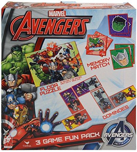 Floor Puzzle - Marvel - Avengers 3 in 1 Dominoes & Memory Match 57604の商品画像