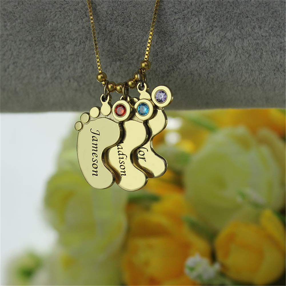 Footprint Necklace SADNESS N Personalized Custom Name Engraved Pendant