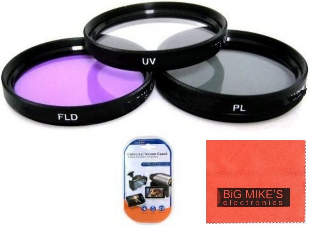 3 Piece Multi Coated HD Filter Kit 72mm UV, CPL, FLD