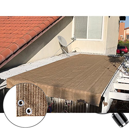 Block Walnut (Alion Home Pergola Shade Cover Sunblock Patio Canopy HDPE Permeable Cloth with Grommets (6' x 26', Walnut))