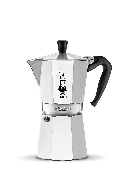 Bialetti Moka Express Espresso Maker, makes 6 Cup 06800 MokaExpress6Tassen Stove Top Aluminium