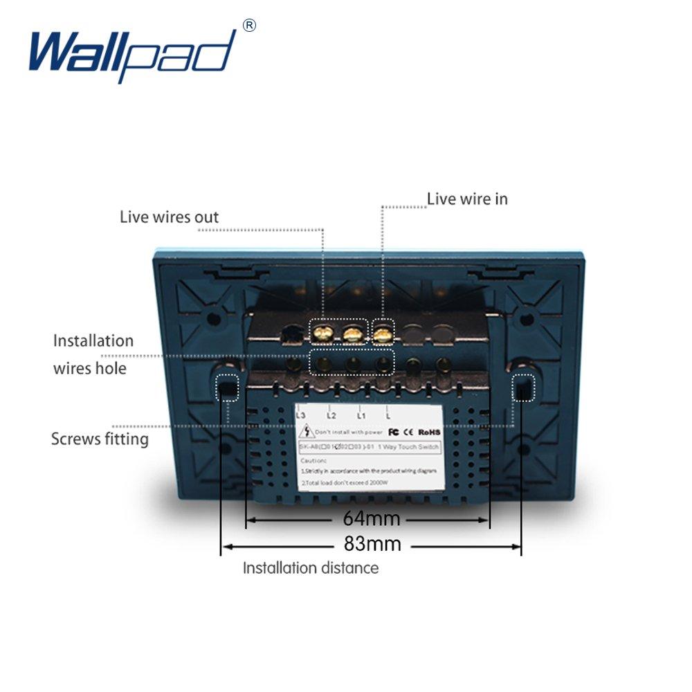 Wallpad Us Standard White Crystal Glass Panel 1 Gang Way Single Light Switch Wiring Touch Sensor Wall