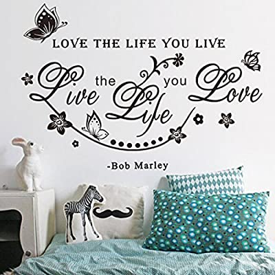 Joylive Love The Life You Live Art Wall Sticker Home Wall Decal Words Room Letters D¨¦cor
