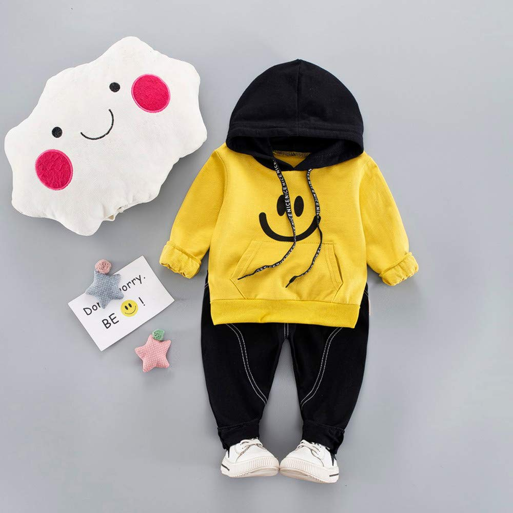 Infant Baby Toddler Boys Girls Hoodie Tracksuit Outfits Clothes 3-24 Months ❤️ Long Sleeve Sweatshirt Pants Set