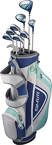 Top-Flite Women's 2018 XL 12-Piece Complete Golf Club Set Graphite -Blue Grey-Right Hand-Standard