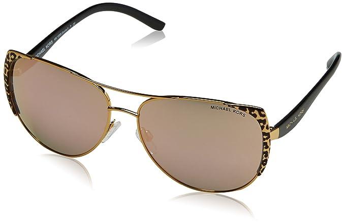 44dfa000213b Michael Kors Women's Sadie MK1005-1057R5-59 Gold Aviator Sunglasses ...