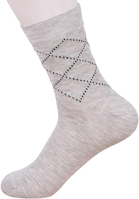 Fascigirl Calcetines para Hombre Calcetines de Negocios Moda Formal Respirable Medias de AlgodóN: Amazon.es: Deportes y aire libre