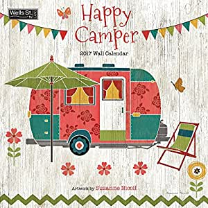 Wells Street by Lang 2017 Happy Camper Wall Calendar, 12 x 12 inches, January to December 2017 (17997001723)