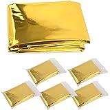 Kingsea Rescue filt, räddningsfolie, nödfilt, första hjälpen-filt, guld/silver 5 delar