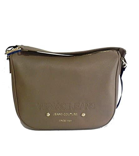 69c1fe6f7bd8 Image Unavailable. Image not available for. Color  Versace EE1VSBBS4 E723  Taupe Messenger Bag for Womens