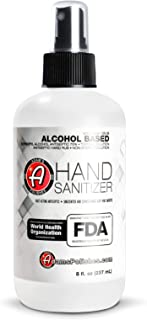 product image for Adam's Hand Sanitizer - USA Made Hand Sanitizing Spray | 75% Isopropyl Alcohol by Volume, Kills 99.9% of Germs, WHO Recommended | Fast Acting Antiseptic Disinfectant (Single)