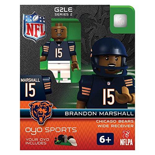 NFL Chicago Bears Brandon Marshall Gen 2 Mini Figure, Petit