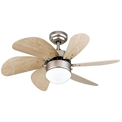 Westinghouse Turbo Swirl Single-Light 30-Inch Six-Blade Indoor Ceiling Fan, Brushed Aluminum with Opal Frosted Glass (Antique Brushed Nickel) - - Amazon.com