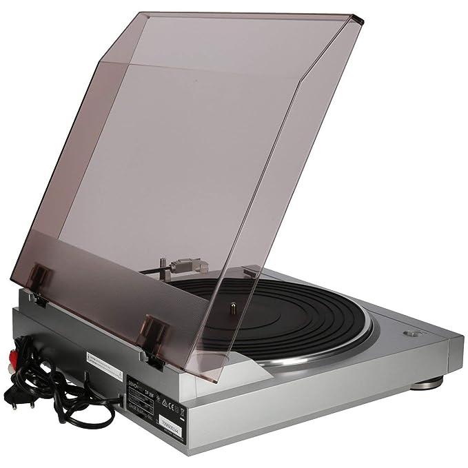 Denon DP-29 F -Tocadiscos con ecualizador RIAA (120 V, 60 Hz), color plateado