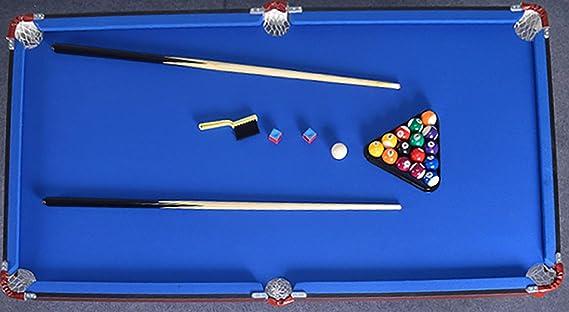 WLDOCA Plegable de 4.6 pies Mesa de Billar Billar /,Mesa de Billar Tabla Set Top Miniatura Mesa de Billar Bola de Juego de Billar, Juguetes para los niños del Cabrito en casa