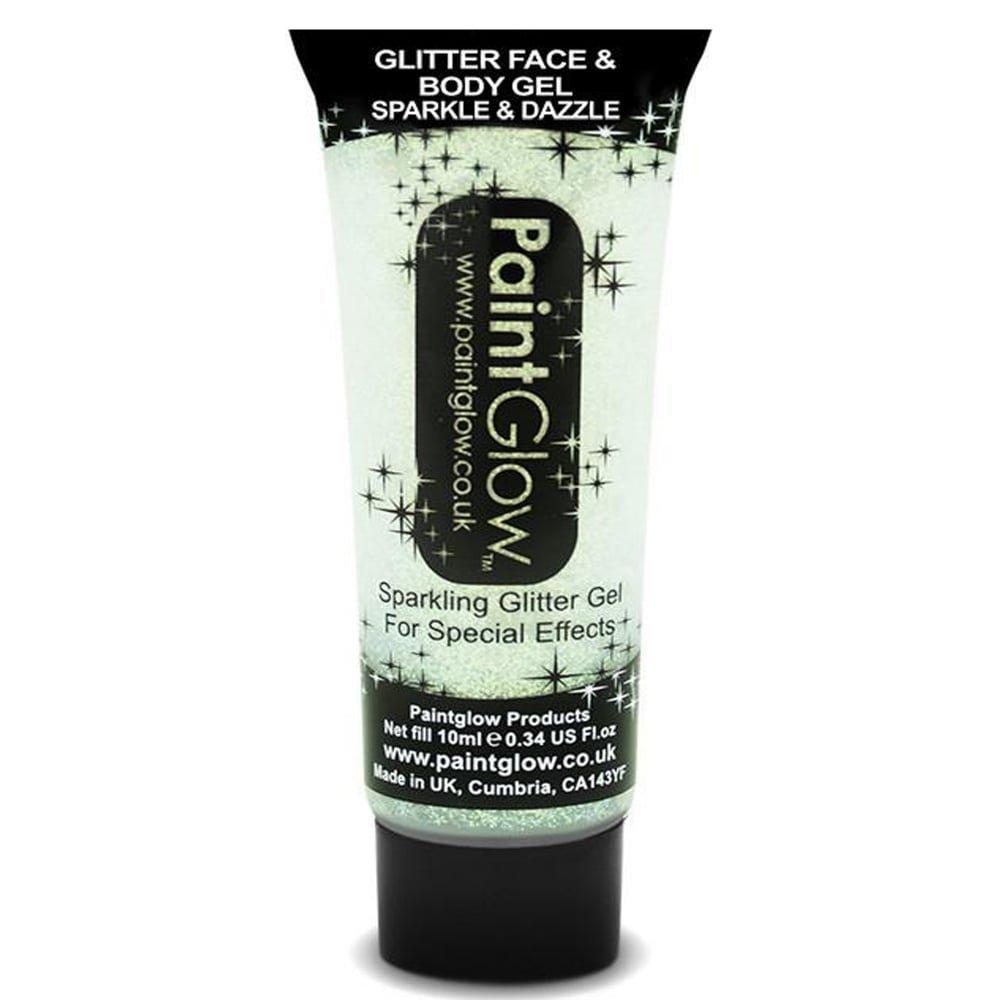 Paint Glow White Glitter Face & Body Gel Sparkle & Dazzle 10ml 46063
