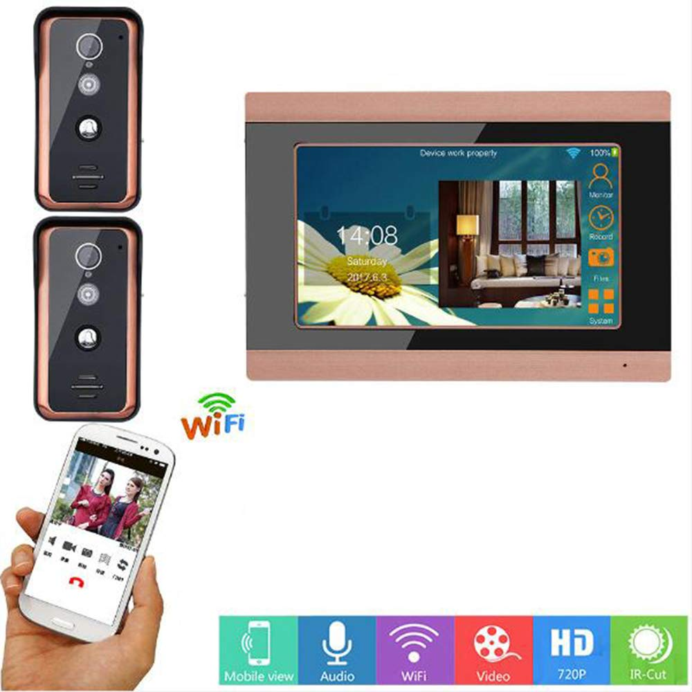 TONGTONG WiFi Video Doorbell Smart Doorphone 720P HD Security Camera Home Intercom System Mit Remote Real-Time-Video Und Zwei-Wege-Talknacht Vision