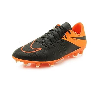 best service 52b1f ee31f Nike Herren Hypervenom Phinish Leather Fg Fußballschuhe, Schwarz/Orange,  40,5 EU