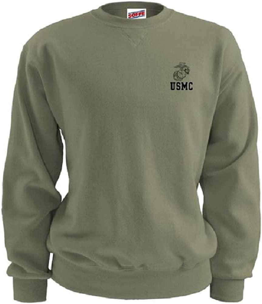 Soffe USMC Men s PT Sweatshirt Semper Fi Olive Drab with EGA