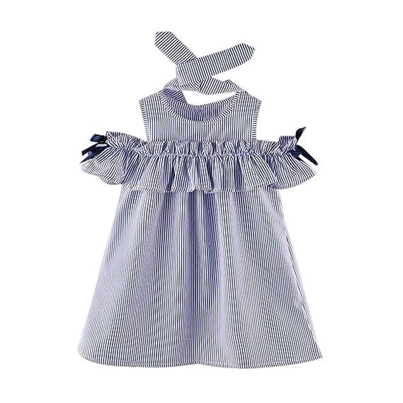 Btruely Herren Vestido para Bebés, Niñas Vestidos con volantes Borla de la raya de Fiesta 2018 Vestir: Amazon.es: Ropa y accesorios