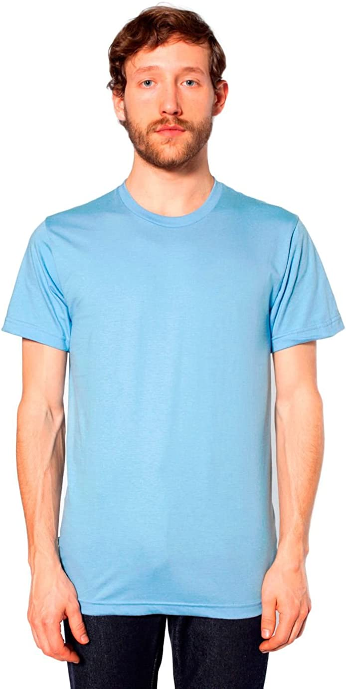 American Apparel Mens Unisex Fine Jersey Short-Sleeve T-Shirt