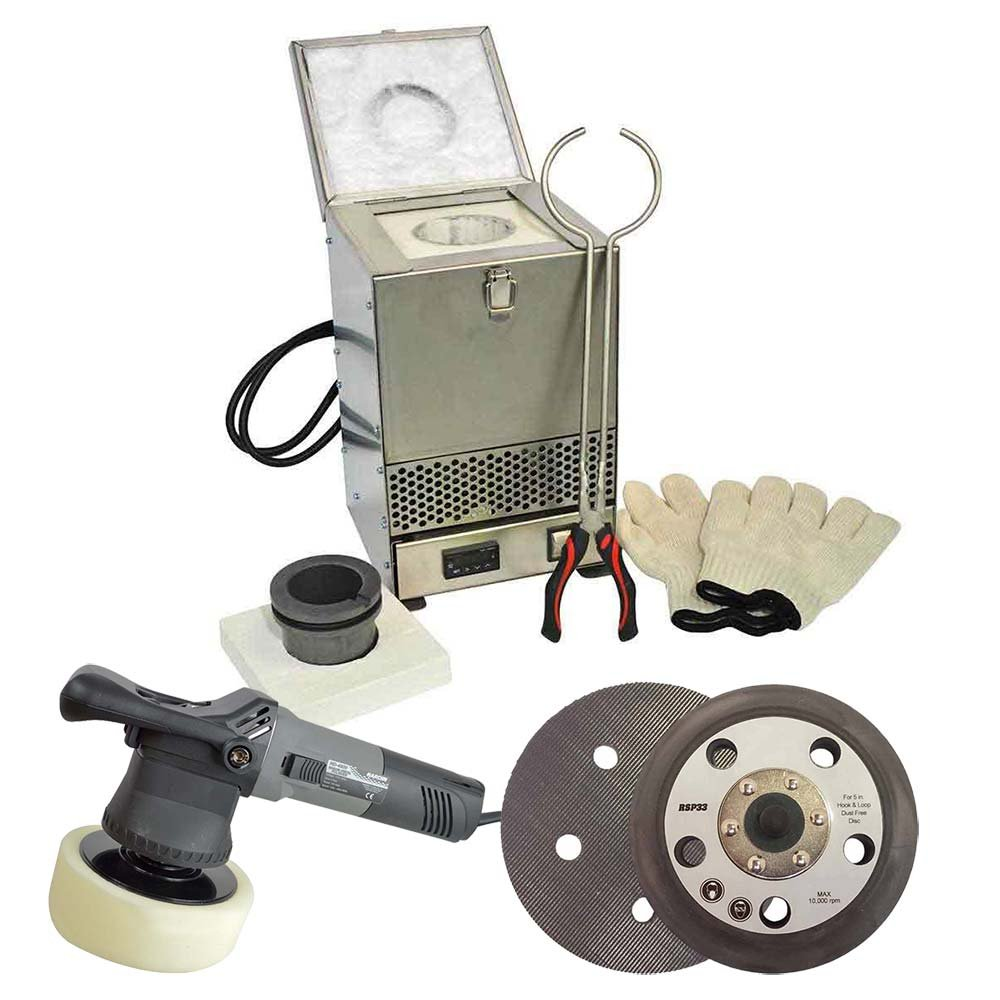 Hardin HD-CS1 DIY Metal & Jewellry Casting Kit - Includes Electric Melting Furnace, Heavy Duty Buffer/Polisher & Sanding Pad