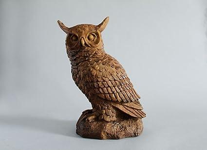 Hoot Owl Garden Statue 12u0026quot;H