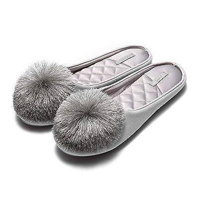 GaraTia Women House Slippers Memory Foam Slip-on Comfort Tassel Pom-Pom Home Shoes | Slippers