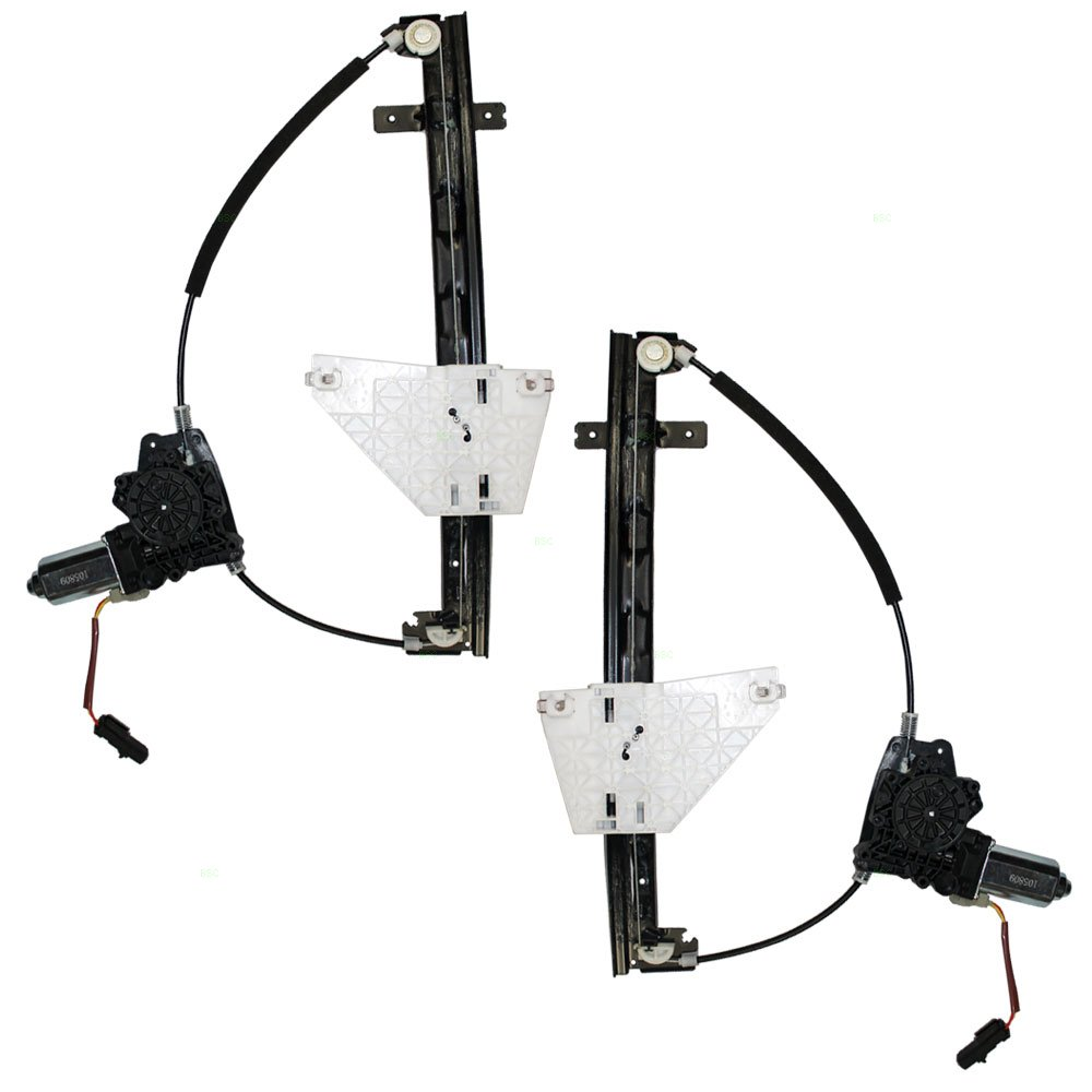 Driver and Passenger Rear Power Window Lift Regulators & Motors Assemblies Replacement for Jeep 55363285AD 55363284AD