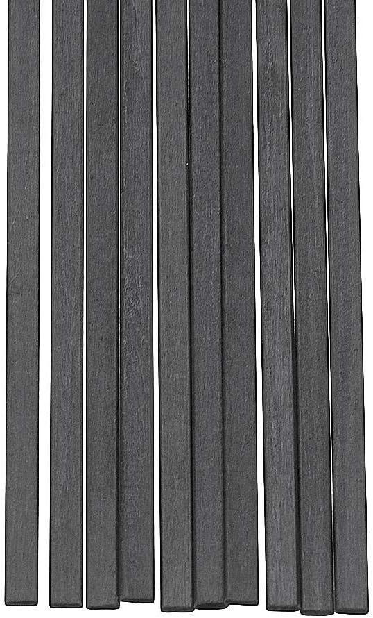 US Nrthtri smt 10Pcs//Set 400mm for RC Airplane DIY Tool Square Carbon Fiber Rods Strips Carbon Fiber Square Bars Matt Surface Crafting Projects Size : #2