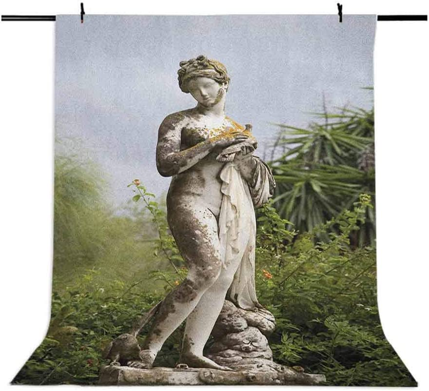 9x16 FT Sculptures Vinyl Photography Backdrop,Sculptured Figure Greenery on The Grounds of Achillion Palace Corfu Island Background for Party Home Decor Outdoorsy Theme Shoot Props