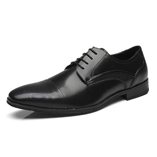 Amazon.com: Faranzi Hombres Zapatos De Vestir De Encaje ...