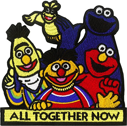 Sesame Street Group All Together Now Embroidered Iron On -