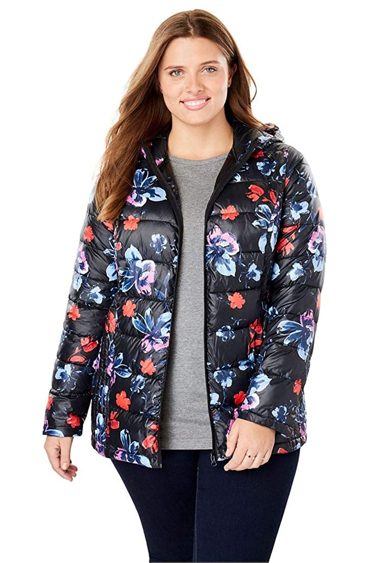 Woman Within Plus Size Down-Blend Microfiber Parka