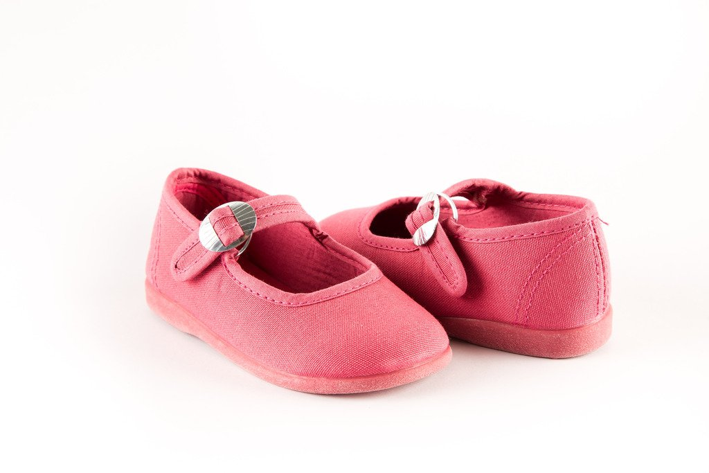 Namoo Kids Canvas Mary Jane, Cotton and Rubber Sole, Baby/Toddler/Kid Shoe (Strawberry) by Namoo (Image #3)