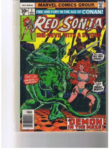 Red Sonja #2 The Demon Of The Maze