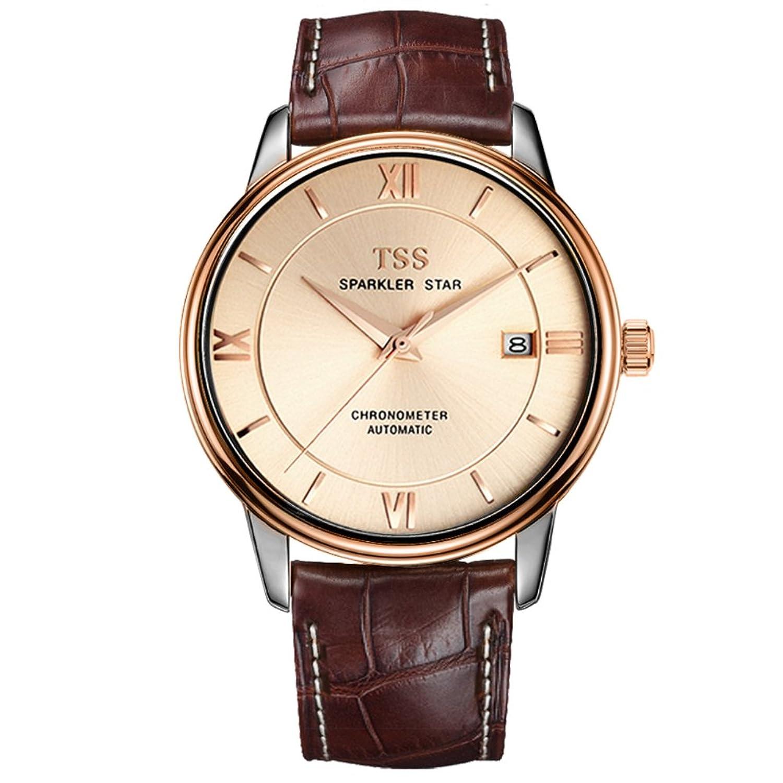 Mode Herren Automatikuhr casual Business wasserdichte Armbanduhr-[Freizeit und GeschÄft wasserdichte Uhr]-H