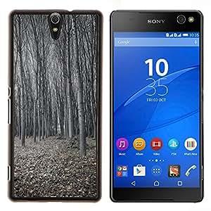 Stuss Case / Funda Carcasa protectora - Winter Deep Forest Oscura Fría con clase - Sony Xperia C5 Ultra