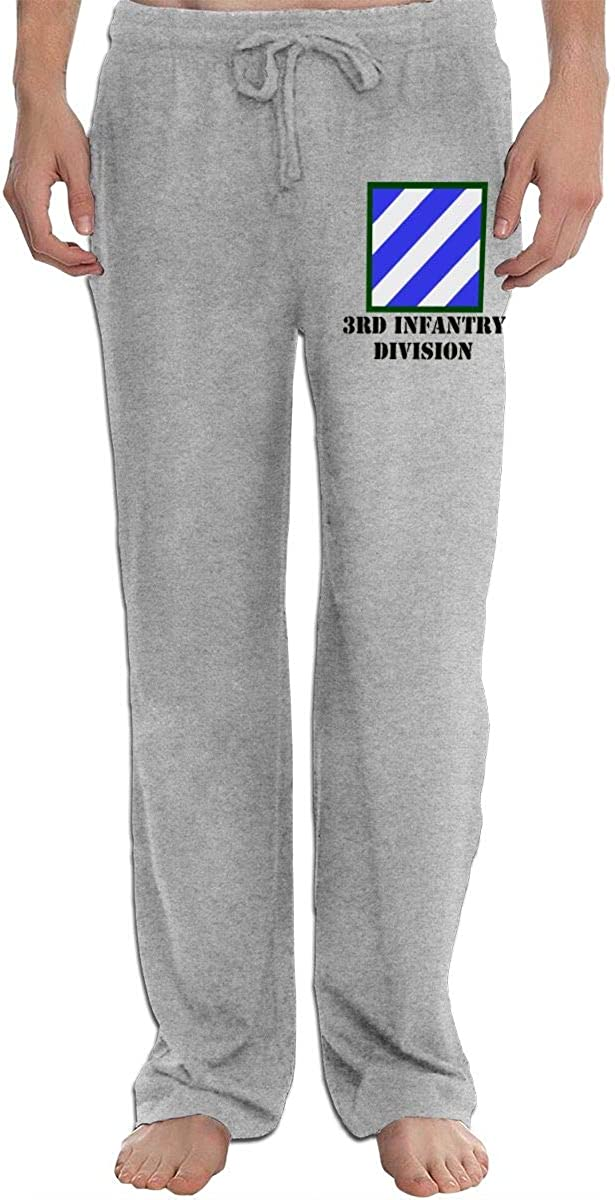 Army 3rd Infantry Division Mens Fit Joggers Jersey Sweatpants for Gym Training