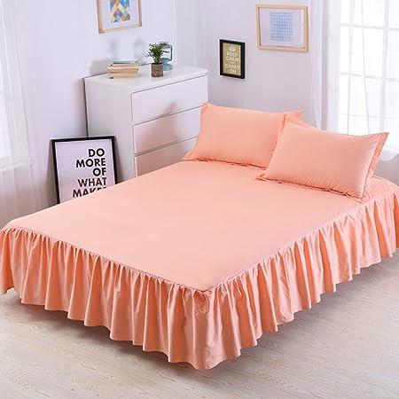 LAOSXNZHE Falda de Cama Colcha 100% algodón Juegos de Cama Funda de colchón Anti-Que Patina-C 180x200cm(71x79inch) Version B: Amazon.es: Hogar
