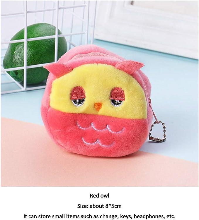 OWL Peluche Porte-Monnaie Couleur Orange