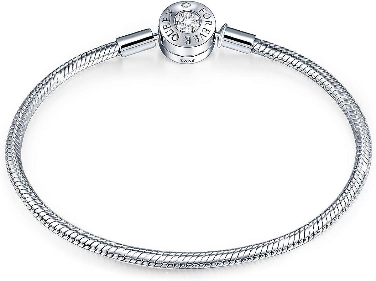Amazon.com: Charm Bracelet Fit Pandora Charms 925 Sterling Silver ...