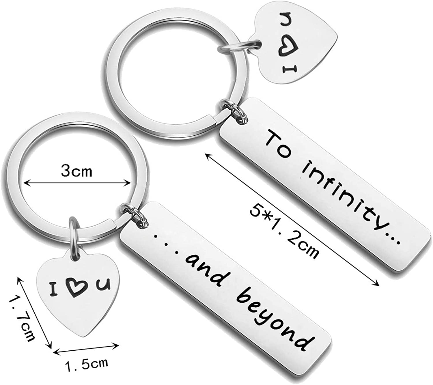 his and hers keychains To infinity and beyond  Couples Keychain Set mother/'s day gift matching keychains