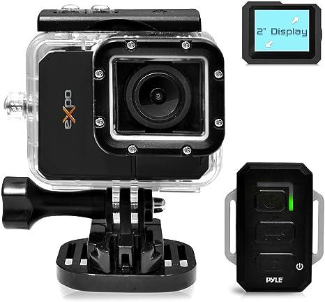 Pyle PSCHD90BK - Videocámara de Alta definición 1080p (cámara de 12 MP, Pantalla táctil de 2.4