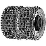 Set Pair of 2 SunF Go Kart / ATV Knobby Sport Tires 22x11-8 22x11x8 6 PR A011